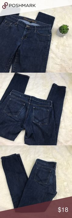 "GAP Factory Premium Skinny Jean 8 / 29 R In great preworn condition. Dark wash Skinny Jeans.  Size 8 / 29 REG.  30"" inseam. 70% Cotton 30% Spandex. sorry, no trades. GAP Jeans Skinny"
