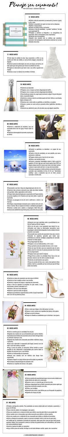 Como planejar seu casamento (com checklist grátis para imprimir) http://www.dropsdasdez.com.br/drops-tips/como-planejar-seu-casamento/