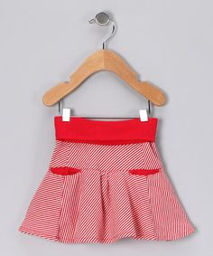 Take a look at this Red Stripe Bloom Organic Skirt - Infant, Toddler & Girls by wobabybasics on #zulily today!