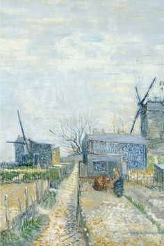 Montmartre: windmills and allotments, Vincent van Gogh: Blank Journal / notebook / composition book, 140 pages, 6 x 9 inch (15.24 x 22.86 cm) Laminated by Studio Beeker http://www.amazon.com/dp/1519552580/ref=cm_sw_r_pi_dp_vZEywb1P211QA