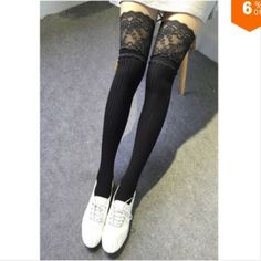 Black Lace Thigh High Socks Lace Thigh High Socks.  Available in grey, white, and black.  This listing is for light grey.  Please comment to order other colors.  Trades.Lowball offers. Reasonable offers only or bundle for an extra discount. time2livelife Accessories Hosiery & Socks