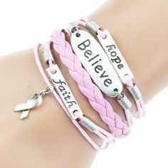 LAST ONE Pink Breast Cancer Support Bracelet Brand new in packaging Jewelry Bracelets