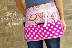 Tutorial: Simple Craft Show Apron @ Kathryn...this would be cute and better than a cash box!