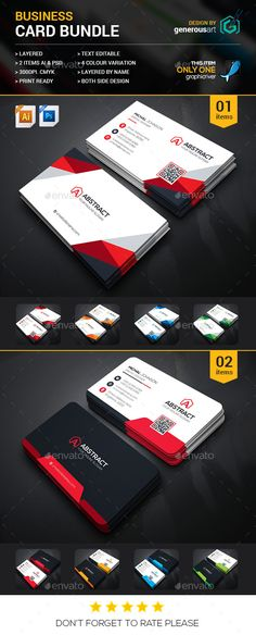 Business Card Bundle 2 in 1 - Corporate Business Card Template PSD. Download here: http://graphicriver.net/item/business-card-bundle-2-in-1/16746541?s_rank=73&ref=yinkira