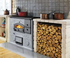 Tulikivi stone cooking range, would LOVE to have a range like this!