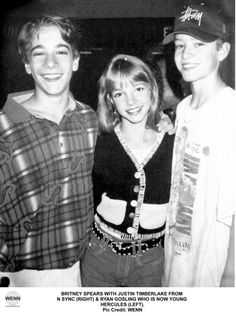 Ryan Gosling, Briney Spears, and Justin Timberlake The New Mickey Mouse Club.