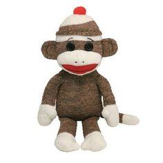 TY Beanie Baby BROWN SOCKS Sock Monkey