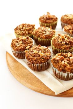 Vegan, gluten free carrot muffins loaded with fruit and veggies. Super moist and flavorful, healthy and made in one bowl! Perfect for on-the-go breakfast and snacking.