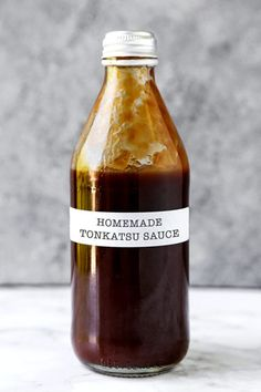Say hello to your favorite Japanese condiment! This easy to make Tonkatsu Sauce Recipe is delectable with everything from Japanese breaded katsu cutlets to croquettes; even sandwiches! Tart, savory and sweet, this Tonkatsu Sauce (とんかつソース) Japanese Bread, Japanese Dishes, Japanese Food, Japanese Style, Japanese Sandwich, Traditional Japanese, Easy Japanese Recipes, Easy Asian Recipes, Sauce Japonaise