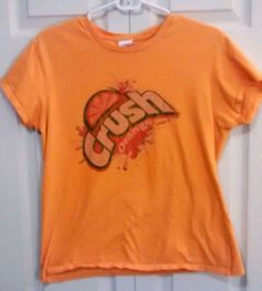 $5 @Ebay  Girls XL ORANGE CRUSH Vintage Style Soft Comfy Cotton Short Sleeve T-Shirt #Unbranded #Everyday
