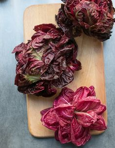 We love bitter greens! 4 new varieties of radicchio this year. Bacon and Radicchio Risotto