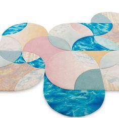 Modular Geometric Carpets by Lim + Lu for Tai Ping - Design Milk Neutral Carpet, Beige Carpet, Patterned Carpet, Carpet Colors, Modern Carpet, Taiping, Fur Carpet, Shaw Carpet, Rugs On Carpet