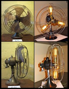 How to turn a vintage fan into a new lamp! #DIY #fan #lamp