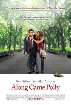 Along Came Polly Directed by John Hamburg. With Ben Stiller, Jennifer Aniston, Debra Messing, Philip Seymour Hoffman. A buttoned up newlywed finds his too organized life falling into chaos when he falls in love with an old classmate. Best Romantic Comedies, Romantic Comedy Movies, Along Came Polly, Jennifer Aniston, Chick Flicks, Age Of Ultron, Movies And Series, Movies And Tv Shows, Books