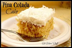Six Sisters' Stuff: Pina Colada Cake Recipe. Nice touch for a tropical graduation party!