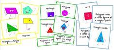 Voici deux activités de manipulation (cartes de nomenclatures), ainsi qu'un mémory sur les polygones. La première activité pour sav...