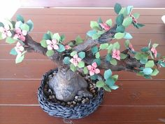 origami bonsai How To Make Paper Flowers, Bonsai, Origami, How To Make Flowers Out Of Paper, Origami Art