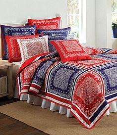 "Bandana Quilt | Nobility ""Bandana"" Red & Blue Quilt Collection | Dillards.com"