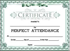 Attendance present an attendance certificate to a person in your attendance award certificate template sample templates yelopaper Image collections