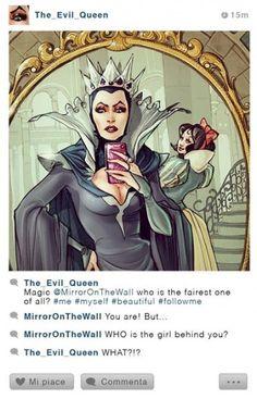 La Strega cattiva #SelfieDisney #SimonaBonafini #illustrazioni #Qriosando