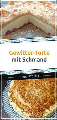 Thunderstorm cake with sour cream- Gewitter-Torte mit Schmand Thunderstorm cake with sour cream - Cupcakes, Cupcake Cakes, Food Cakes, Dessert Simple, Delicious Cake Recipes, Yummy Cakes, Baking Powder Ingredients, 3 Ingredients, Cake Oven