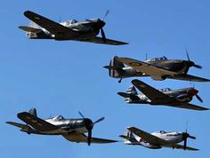 WW2 Famous Fighters flyover