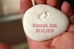 Engraved rock=cute gift!