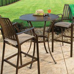 "Island Breeze 3 PC Pub Set with 2 Barstools and 36"" Pub Table"