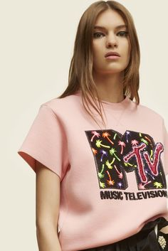 MTV x Marc Jacobs Short-Sleeve Crewneck Sweatshirt