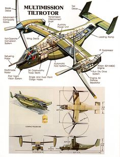 Early concept illustrations of V-22