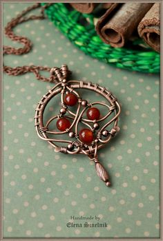 Copper wire pendant