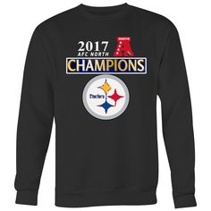 AFC North 2017 Champion Steelers Sweatshirt (5 Colors). Steelers Sweatshirt Steelers T ShirtsNfl ... ed327a96f