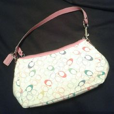 Coach purse Pink and multicolored pastle Coach Bags Mini Bags