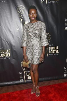 Actress Danai Gurira attended the 2016 Lucille Lortel Awards in New York City