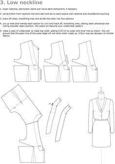 drafting collars low neckline