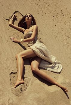 fashion-on-my-platter: Nadja Bender by Alexander Neumann in 'Gold Dust' for Fashion Gone Rogue
