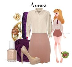 """""""Punziella: Aurora"""" by merahzinnia ❤ liked on Polyvore featuring Marc by Marc Jacobs, Sweaty Bands, SUMMERSKIN, Aiayu, Yumi, Steve Madden and Essie"""