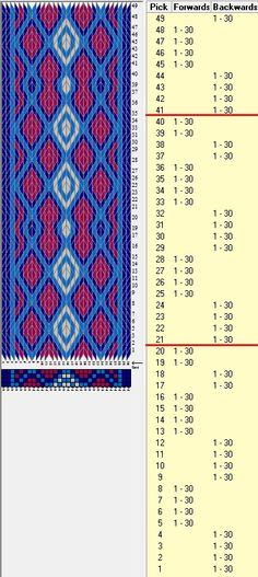 Otra opción 30 tarjetas, 4 colores, secuencia 4B-4F-4 B-4F-2B-2F // sed_362a diseñado en GTT༺❁