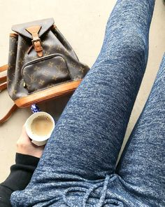 Mondays call for coffee and joggers!! Save 10% through April with code lv10. Shop this mm backpack in bio. #mondays #mondaymorning