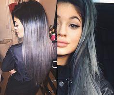 Kylie Jenner's silver ombré.