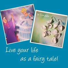 "Orecchini pendenti in porcellana ""Le Dondole"": Vivi la tua vita come una favola. Live your life as a fairy tale!"