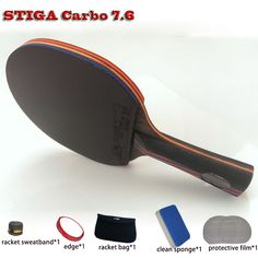 Cheap table tennis racket, Buy Quality table tennis directly from China tennis table racket Suppliers: table tennis racket WRB pat set 6 free gifts long handle short handle professional carbon fiber table tennis racket Table Tennis Racket, Ping Pong Paddles, Racquet Sports, Carbon Fiber, Golf Clubs, Free Gifts, Entertaining, Film, Summer