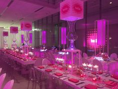 Posted by Entertaining Company - 1640 West Walnut Street, Chicago, IL 60612  #pinkbatmitzvah #venuesix10 #pinknapkins #tallcenterpieces #kidparty #ghostchairs #glowingpink #milestone #food #eventfood #foodanddrink #entertainingcompany #themedparty #tabletop