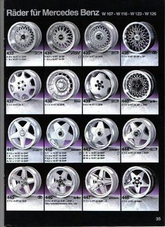 Mercedes Benz Wheels Reference Guide - Cars and motor Mercedes Auto, Mercedes Wheels, Mercedes Benz Autos, Mercedes G Wagon, Vw Variant, Jdm Wheels, Vw Mk1, Mercedez Benz, Rims For Cars