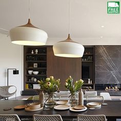 Modern Circle Wood Chandelier Light