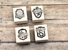 Choose One Hogwarts House Crest Rubber Stamp Hand by GeekStamps