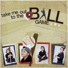 baseball scrpabook ideas | Baseball Scrapbook Layout Idea | Scrapbooking ideas