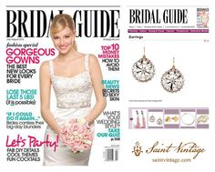Saint Vintage's Floral Love Drop Earrings -- Featured in the upcoming July/August issue of the Bridal Guide!