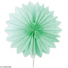 Mini rosetón decorativo Verde agua - 15 cm - 3 uds - Fotografía n°2