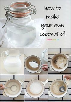 How to Make Coconut Oil - Latina Mom Tips & Advice mom. Coconut Oil For Cooking, Homemade Coconut Oil, Organic Coconut Oil, Coconut Oil Uses, Coconut Oil For Skin, Make Coconut Milk, Benefits Of Coconut Oil, Dry Coconut, Coconut Oil Pulling
